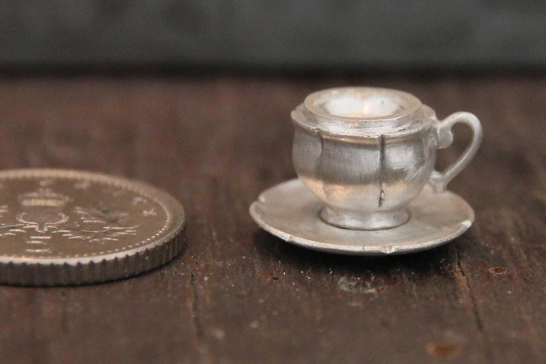 Silver teacup charm WIP-2