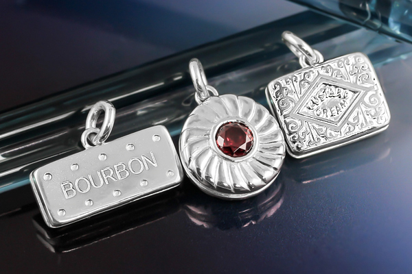 Sterling silver biscuit charms