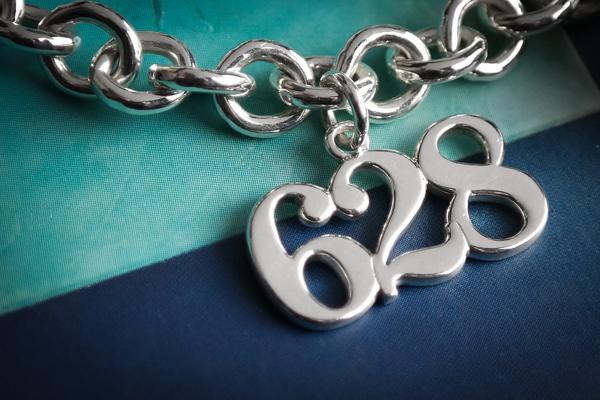 sterling silver custom roller derby skate number