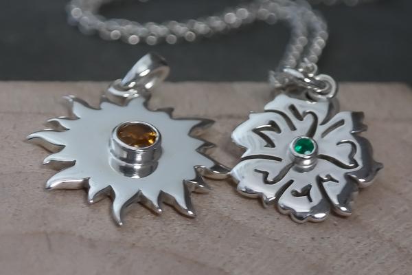 bespoke sunshine citrine gemstone necklace