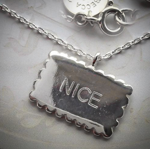 Silver nice biscuit necklace