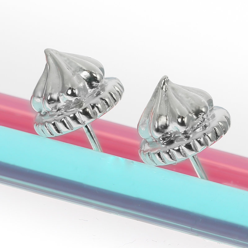 sterling silver iced gem earrings studs