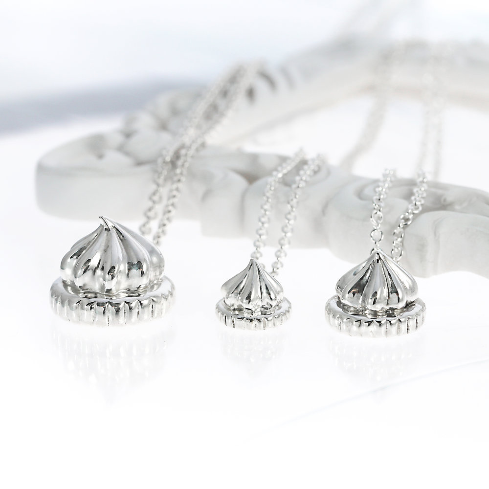 Sterling Silver Iced Gem Necklaces Lifestyle