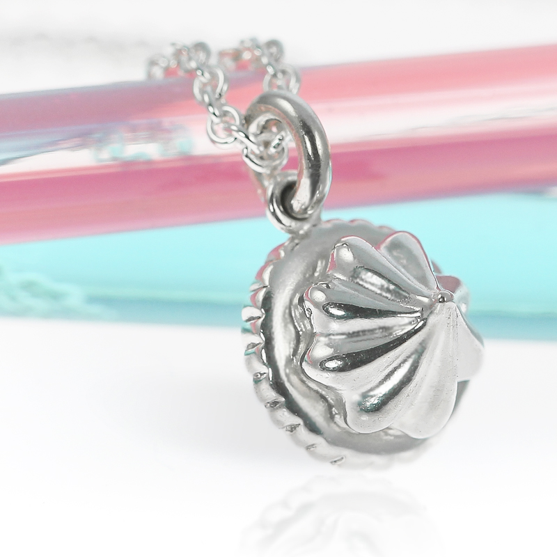 Sterling Silver Small Iced Gem Necklace