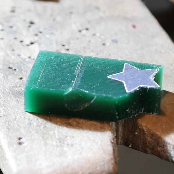 Wax carving a star