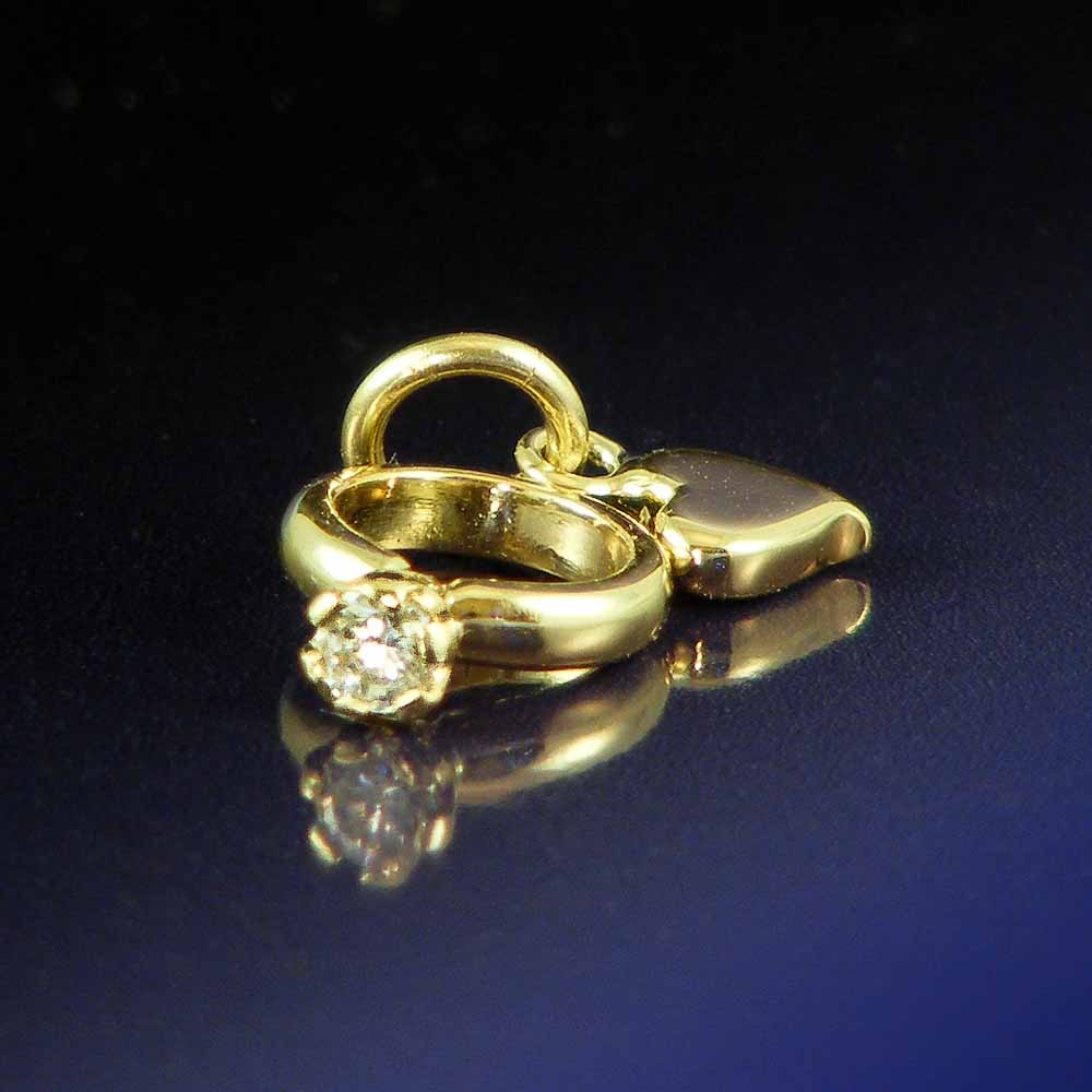 Gold-mini-engagement-ring-charm