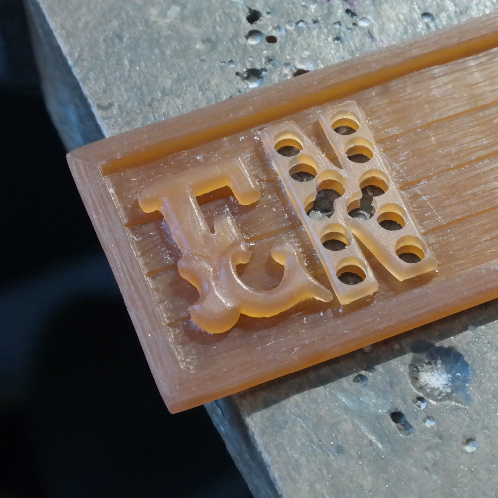 Wax carving adding letters