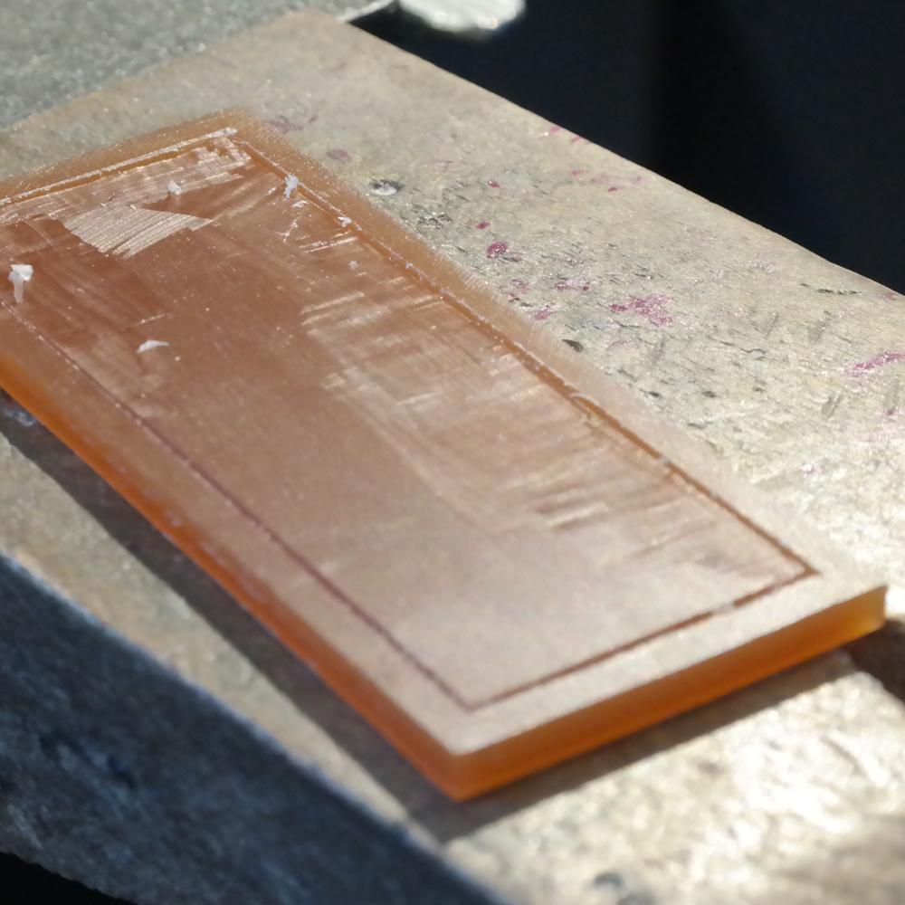 Wax carving work in progress