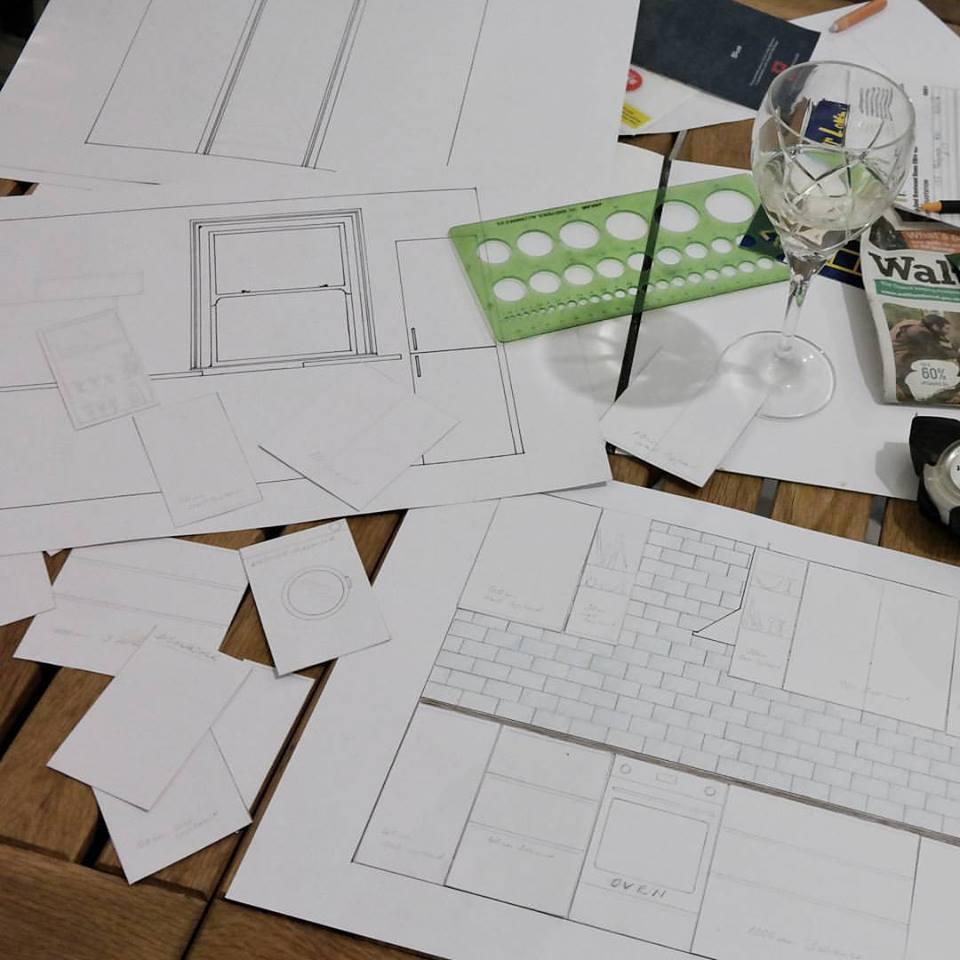 Kitchen planning tetris Howdens