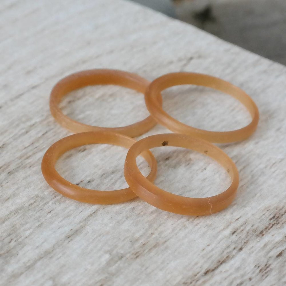 Wax carving wedding rings work in progress