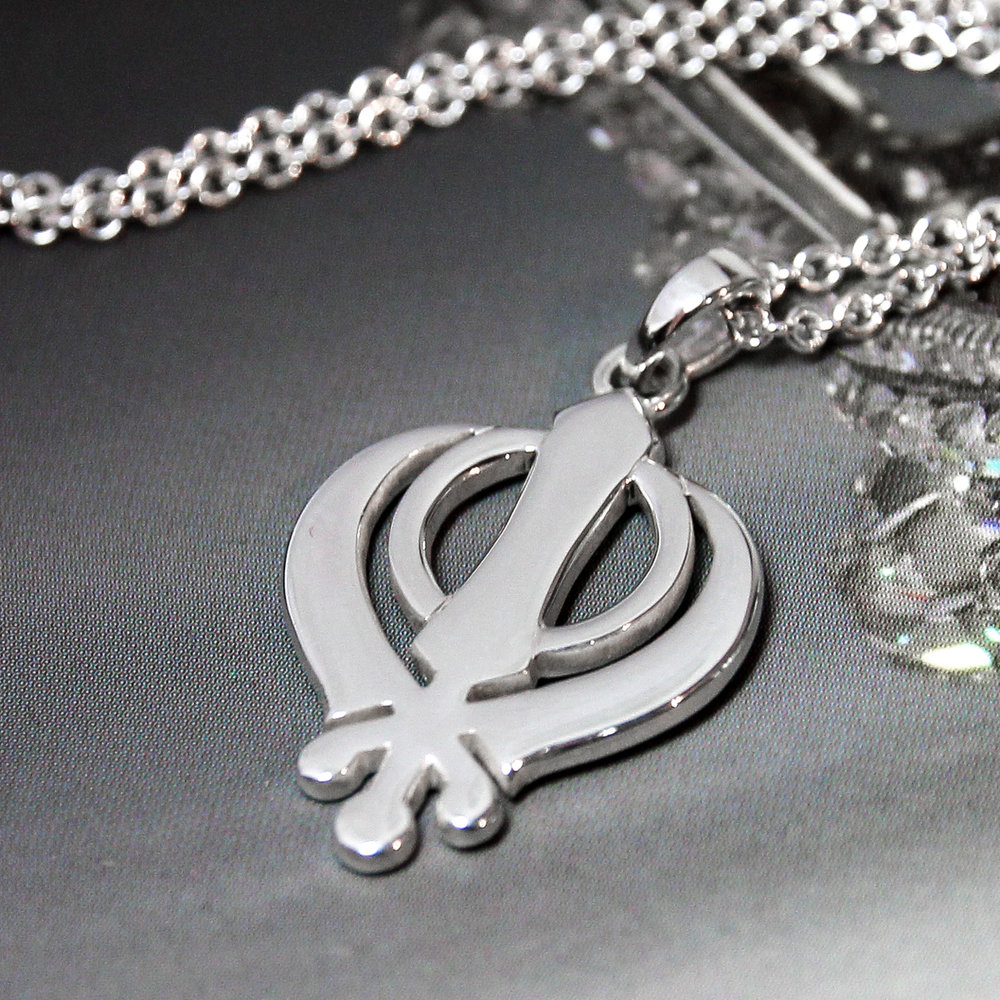Sterling silver handmade khanda necklace