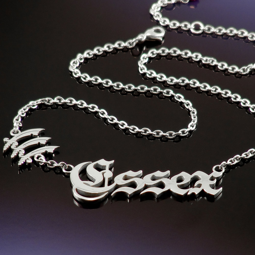 Silver Only Way is Essex name necklace bespoke