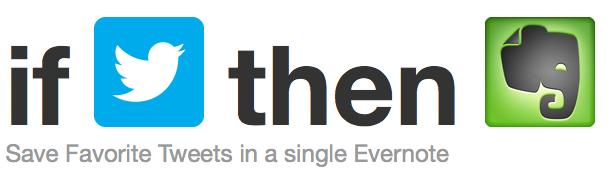 IFTTT Favorited Tweet Evernote