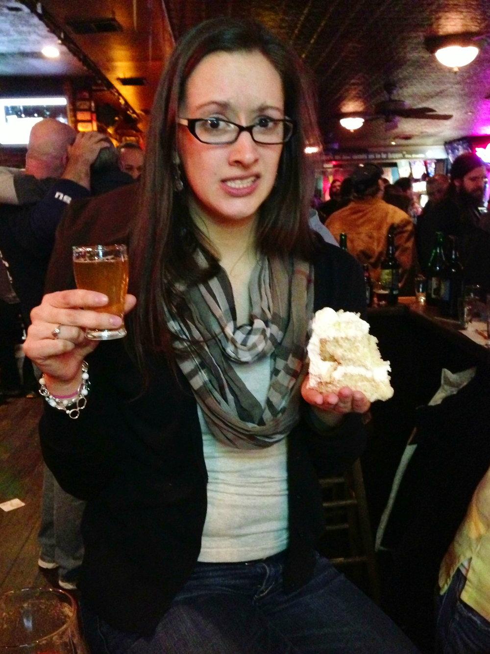 Lindsay and cake