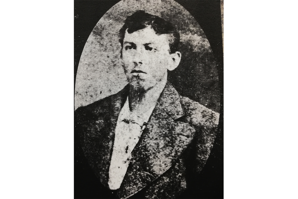 1879 - Clark Brown executed for mudering his father and sister at their home in winchester.