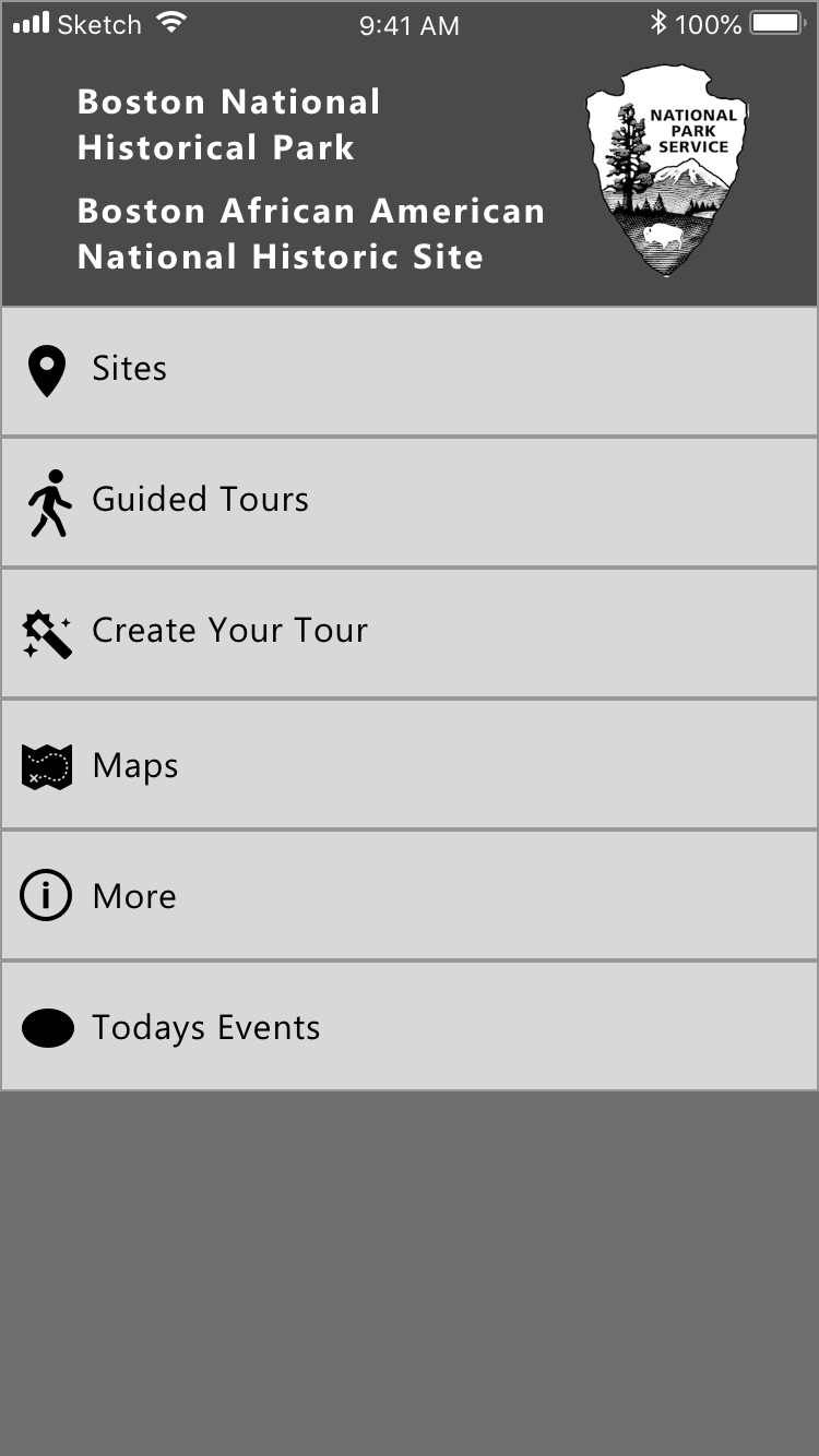 NPS Home Page - Added new button for creating custom tours on the home page.
