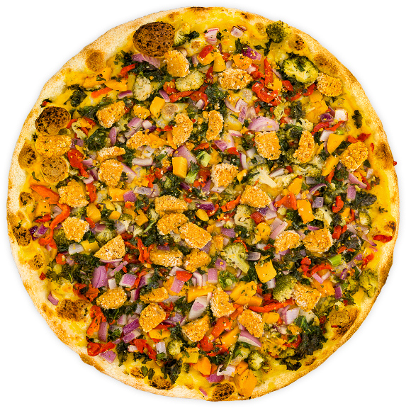 Vegan Foccacia  - Your choice of local, seasonal vegetables on a thick crust (14