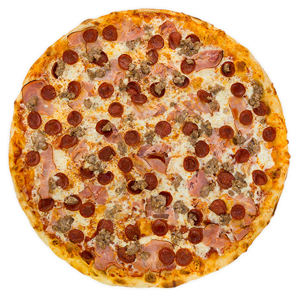 Carnivore Bliss - Smoked ham, pepperoni + house-made Italian sausage on a rich marinara base
