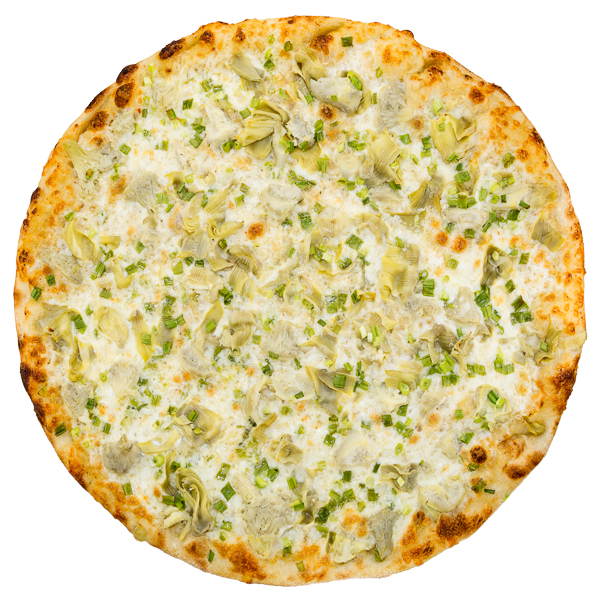 Artichoke + Garlic Sauce - Artichoke hearts and green onions on our house-made garlic parmesan sauce