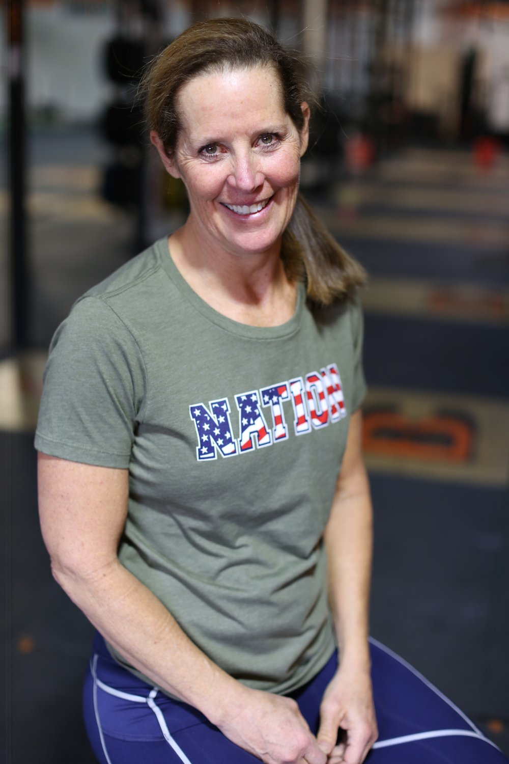 Diane Stone - I started CrossFit in September 2012. In July of 2013 I received my CFL-1 certificate and started coaching. Over the past 6 years I have enjoyed coaching and CrossFit competitions. In 2017 I finished the Open in 17th place and the AGOQ in 23rd worldwide. I have qualified 4 times to compete at the Granite Games, finishing the 2018 event in !st place. My certifications include CrossFit CFL-2, CrossFit Weightlifting, CrossFit Gymnastics, 30 year member and Level III Professional Ski Instructor of America, AFAA Personal Trainer, CPR, Reebok Indoor Cycling Instructor and CPR.I was born raised in Atlanta, GA. After graduating high school I moved to Aspen, CO where I met my husband, Charlie. We have 2 children, Hannah and Berkley. I love to ski, surf and spend time with the kids. Other accomplishments2 Marathons2 Tough MuddersTown of Aspen Race Series- Mountain & Road BikingUS Swimming Athlete
