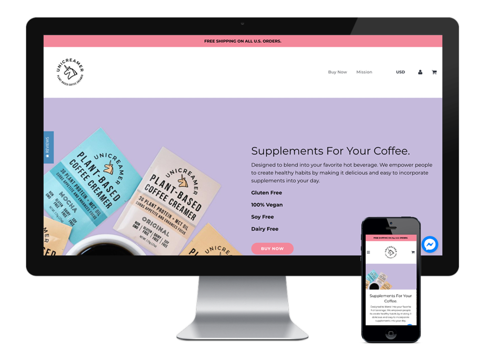 Unicreamer Website – Website in Skin – Desktop and Mobile Image.png