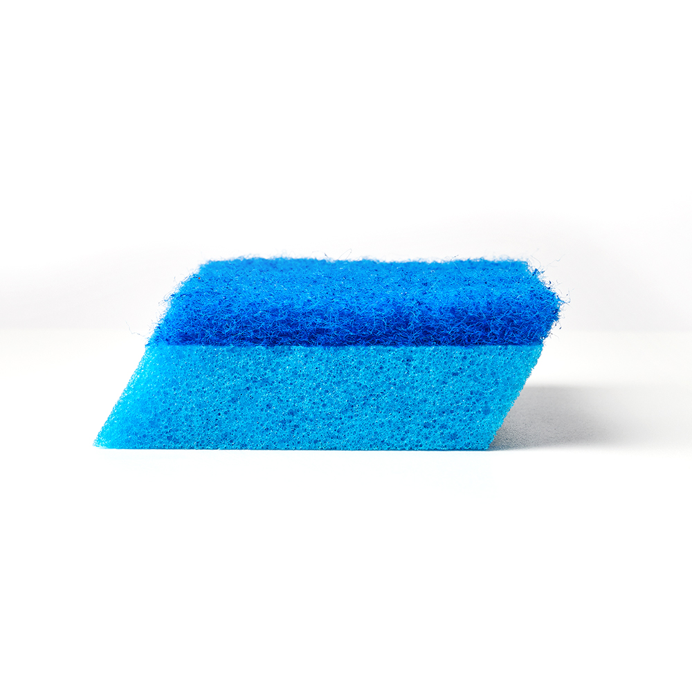 Brillo® Estracell® No Scratch Scrub Sponge with Wedge Edge out of package