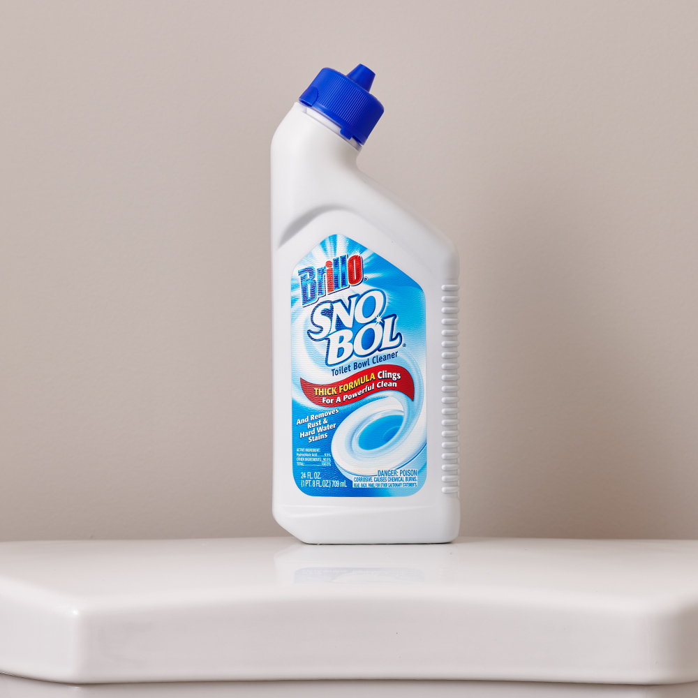 Brillo® SNO BOL® on top of toilet back