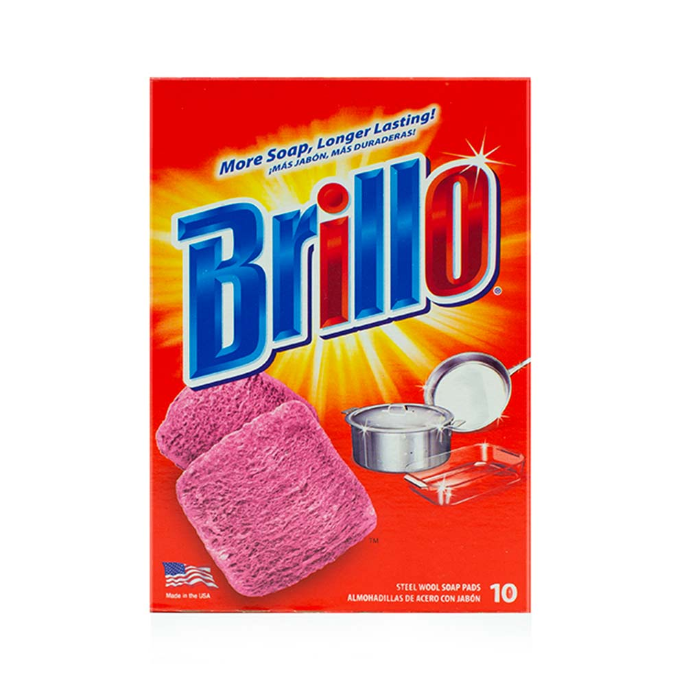 Brillo® Steel Wool Soap Pads - Powers Out Grease and Grime
