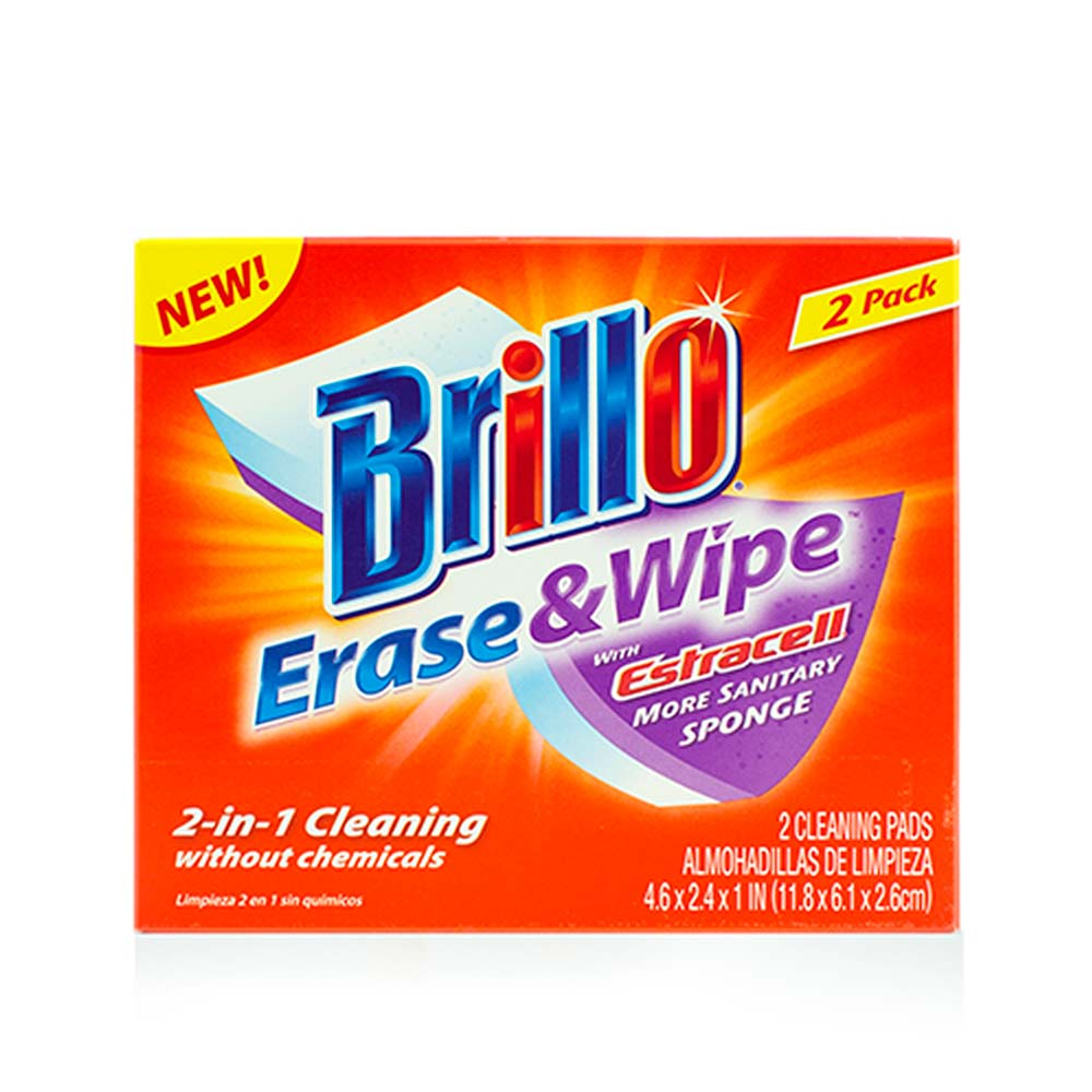 Brillo® Erase & Wipe™ - Two-in-One Cleaning—Just Add Water