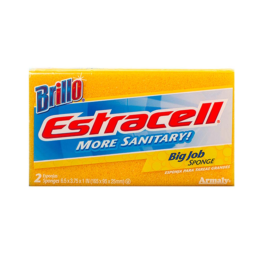 Brillo® Estracell® Big Job Sponge - Perfect for Big Cleaning Jobs