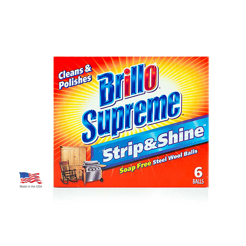 Brillo® Supreme® Strip & Shine™ Steel Wool Balls