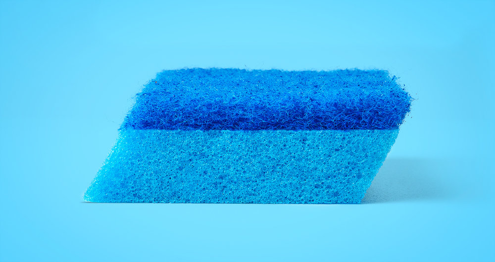 Brillo® Estracell® No Scratch Scrub Sponge with Wedge Edge®