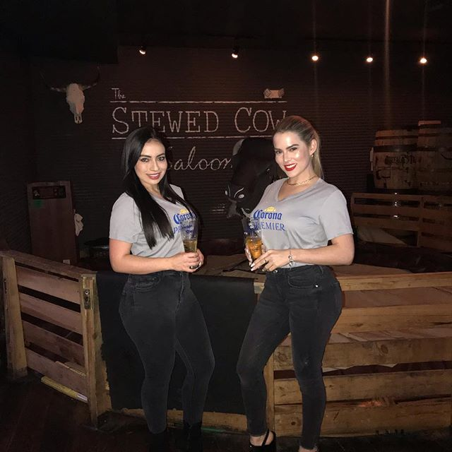 You've had Corona, and Corona Light, but have you had Corona Premier? If you're in the area stop by and enjoy a cold one from Natalia or Mary! #getstewed #stewedcow #coronapremier #hoboken #fridaynight
