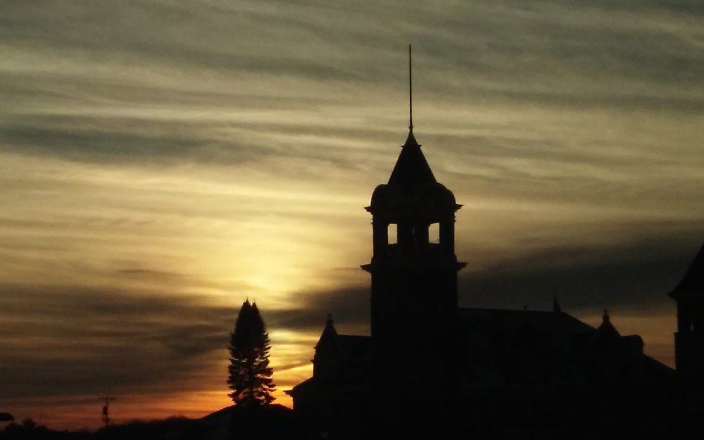 Sunset at the old clock tower