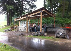 MassArt Student Built Bar - BBQ Pavilion in Brookline