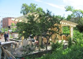 Student Built Outdoor Classroom in Providence (Federal Hill)