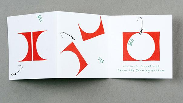 Christmas card for Corning Hilton