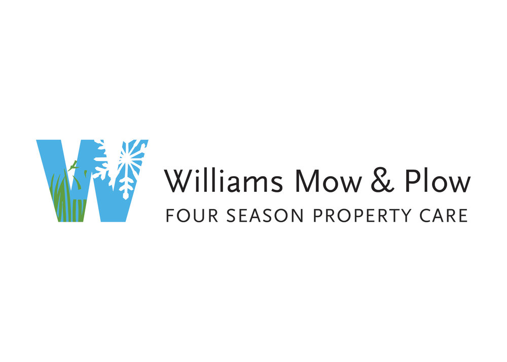 "This company used to be called Williams Lawncare and Landscaping. We felt the name was long and cumbersome, and that it didn't suggest the many other services they provide. We came up with ""Mow & Plow (and everything in between)"" and they loved it."