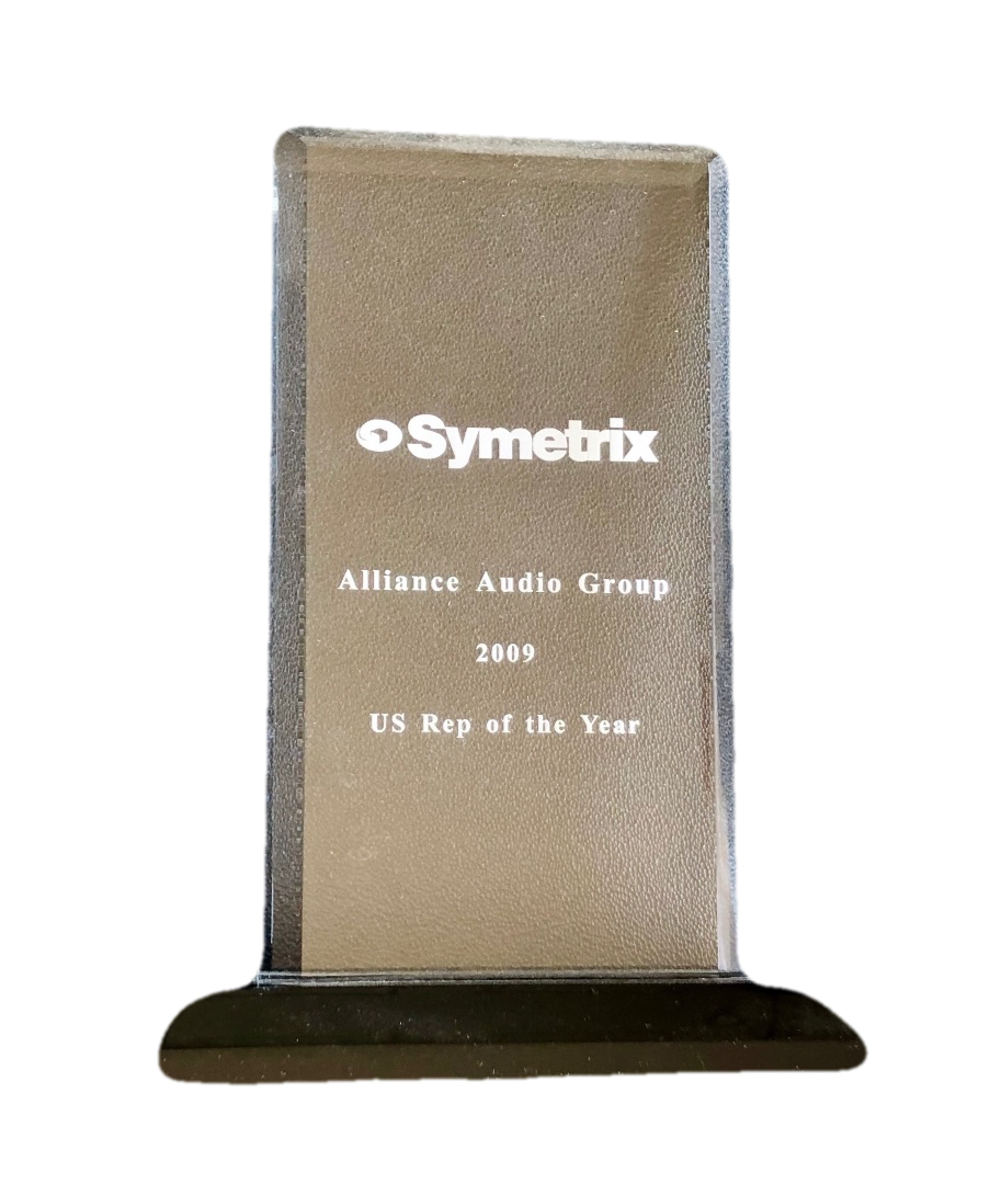 Symetrix US Rep of the Year 2009