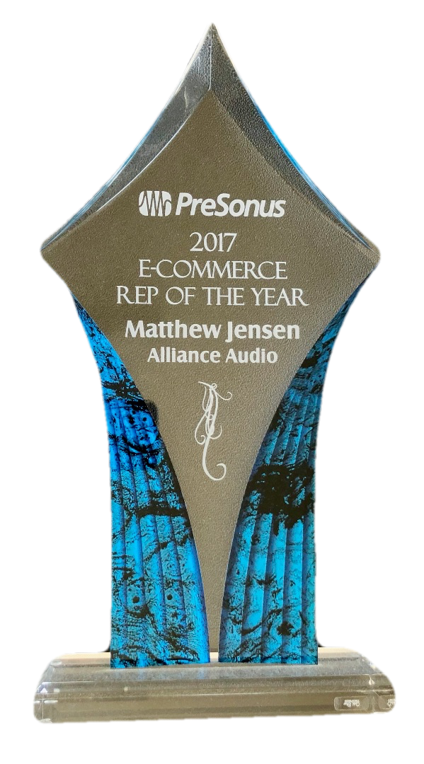 2017 PreSonus E-Commerce Rep of the Year