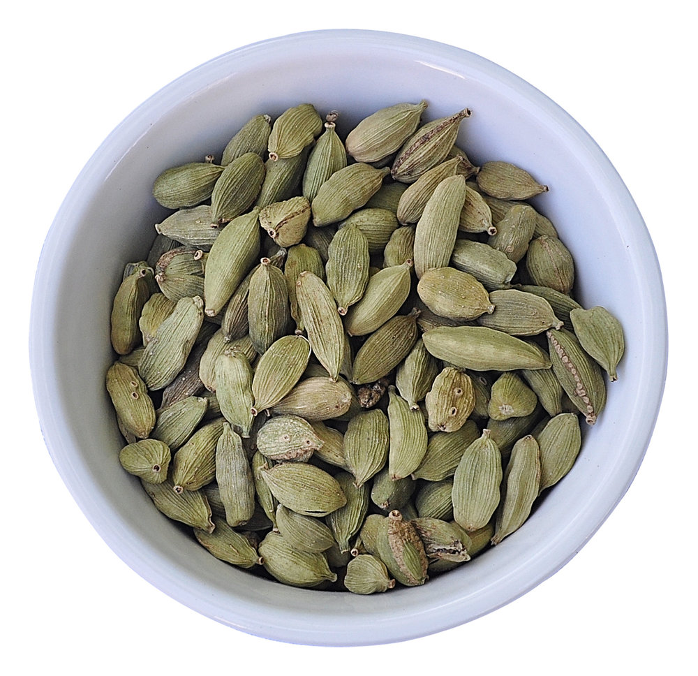 Cardamom - Cardamom is the 3rd most expensive spice after saffron and vanilla. It is a tropical spice that comes in small seed pods. Cardamom is considered to be one of the oldest spices used by human beings, dating back over 4,000 years. Historians have concluded that Egyptians, Greek and Romans all used cardamom in food and for medicinal purposes. The Vikings discovered cardamom during their travels and introduced the spice to Scandinavia, where it remains very popular today. Cardamom is popular in many parts of the world both for its medicinal values and as an additive to food and drinks.Cardamom is reported to provide many health benefits. More information on the health benefits can be found in this National Institute of Health study on the benefits of Cardamom: https://www.ncbi.nlm.nih.gov/pmc/articles/PMC5557534/.