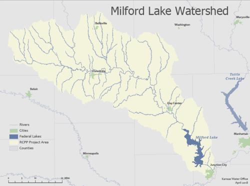 Milford Lake Kansas Map.Milford Watershed Milford Watershed