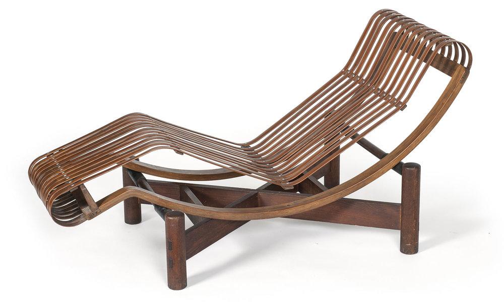 Chaise longue basculante / Charlotte Perriand