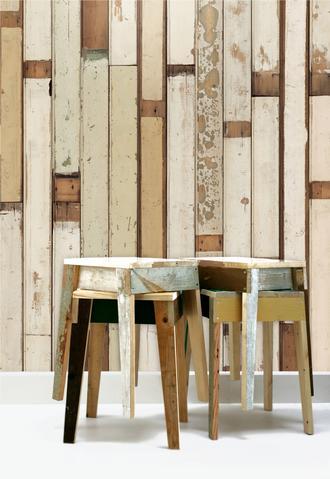 Scrapwood wallpaper par Piet Hein Eek