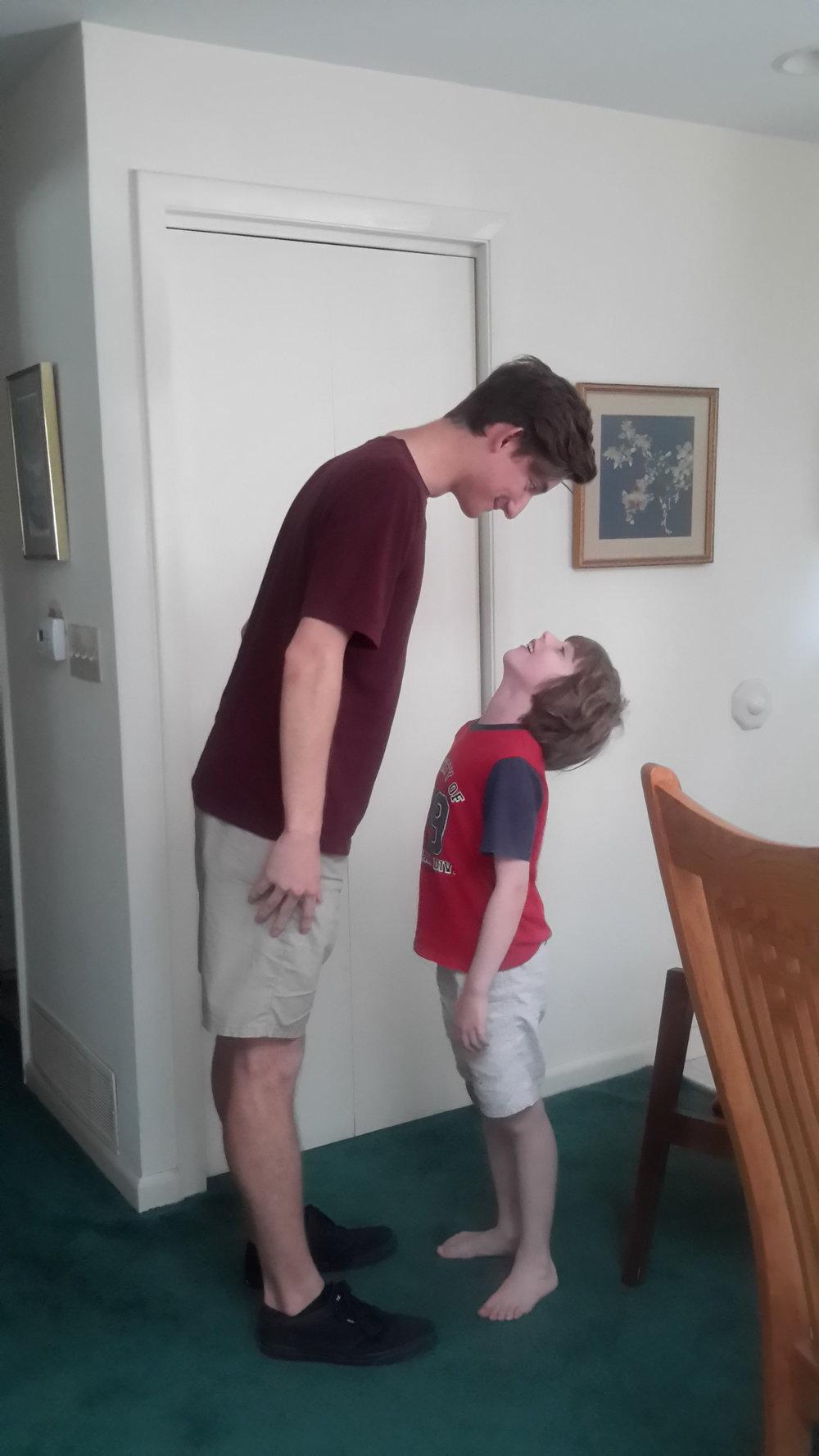 Future Voters - Nicholas (18) and Jasper (7)