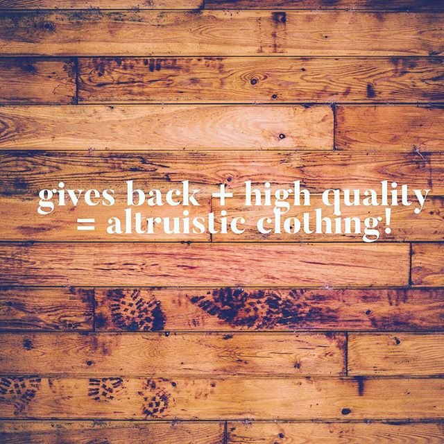 @ shopaltruistic.com #altruism #consciousfashion #consciousliving #consciousclothing #echofashion #clothingthatmatters #clothingthatinspires #letschangethatfashiongame #letschangetheworld #fashionthatfeelsgood #fashionthatleadsnotfollows #consciousconsumer #careforothers #fashionthatgives #fashionthatmatters