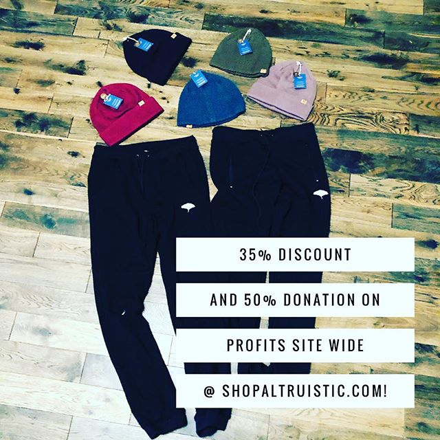 Support Altruistic on small business Saturday using promo code: SMALL. All donations go to @charitywater! #smallbusinesssaturday #blackfriday #blackfriday2018 #blackfridaydeals #blackfridayshopping #shopsmallbusiness #shopsmallsaturday #dogoodlookgood #altruism #giveback #consciousfashion #consciousliving #intentionalliving #ecofashion #mensfashion #womensfashion