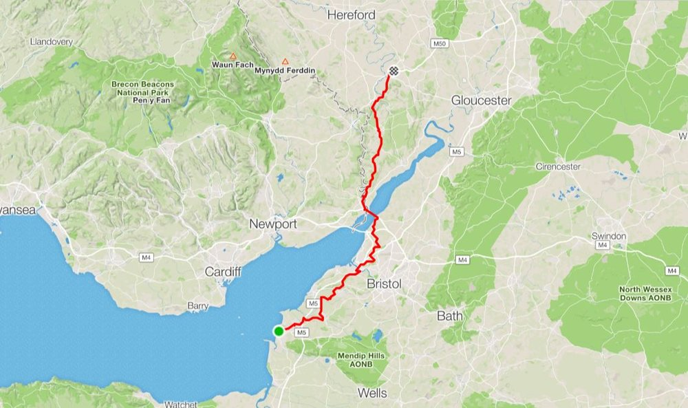 """Day 5 - """"The big objective was the Bridge""""Another great days cycling, with some great memories thrown in from former years.Distance: 108.06 km Moving Time: 6:13:22 Ave Speed: 17.4 km/h"""