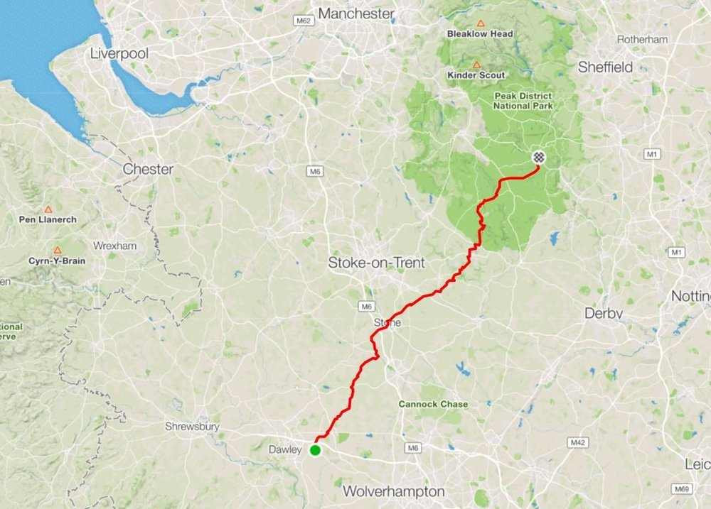 """Day 7 - """"We had to propel our cycles yet again at completely unreasonable angles to the horizontal""""A day of two halves and two mechanicals - sunny morning then drenched by rain!Distance: 102.67 km Moving Time: 6:06:53 Ave Speed: 16.8 km"""