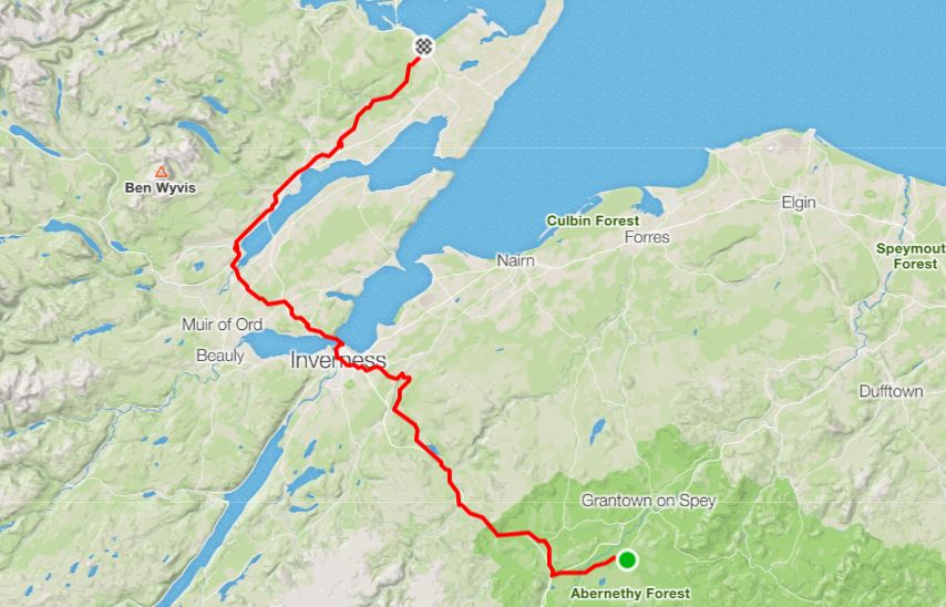 """Day 16 - """"A day of many layers - vest, shirt with arm warmers, long sleeved shirt, windproof …""""A big day with cold temperatures, successfully ticking off another leg and another day closer to JoG!Distance: 120.30 km Time: 7:05:05 Elevation Gain: 1,113 m"""